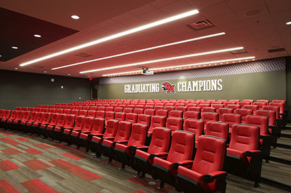 Andy '93 and Mara Gloor '93 gift names auditorium in Athletic Performance Center